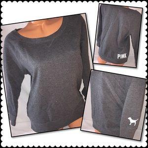 VS PINK Pullover gray sweatshirt MEDIUM
